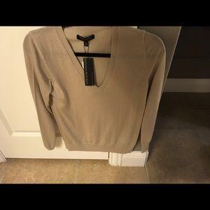 NEW Banana Republic camel color v-neck sweater.